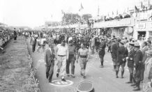 Tony Rolt Duncan Hamilton  & Stirling Moss at Le Mans 1953  photo